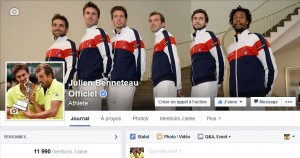 Augmentation importante des fans Facebook de Julien Benneteau