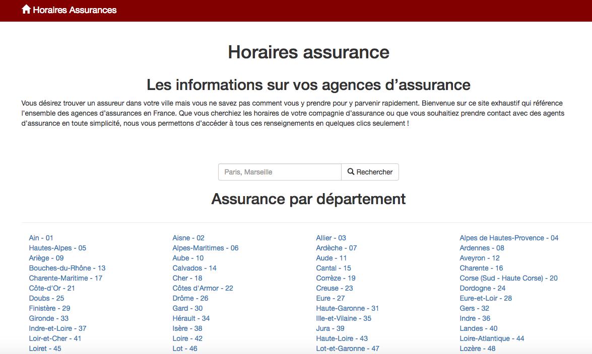 Avec HoraireAssurance.fr : Trouvez votre assureur en france !